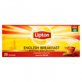 Lipton English Breakfast Herbata czarna 50 g (25 torebek)