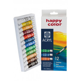 Happy Color FARBA AKRYLOWA 12 KOL.12ML
