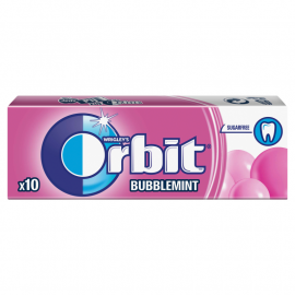 Orbit Bubblemint Guma do żucia bez cukru 14 g (10 drażetek)