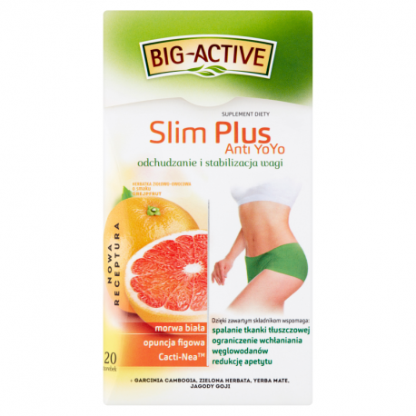 Big-Active Slim Plus Anti YoYo Herbatka ziołowo-owocowa Suplement diety 40 g (20 x 2 g)