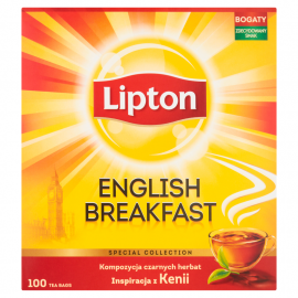 Lipton English Breakfast Herbata czarna 200 g (100 torebek)