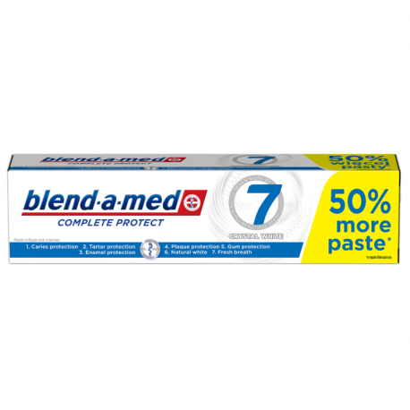 Blend-a-med Complete Protect 7 Crystal White Pasta do zębów 150ml