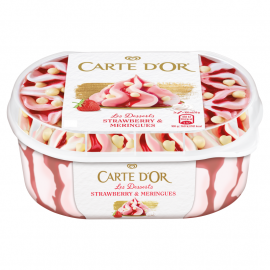 Carte D'Or Les Desserts Strawberry & Meringues Lody 900 ml