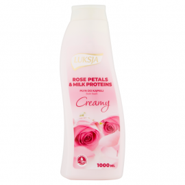 Luksja Creamy Rose Petals & Milk Proteins Płyn do kąpieli 1000 ml