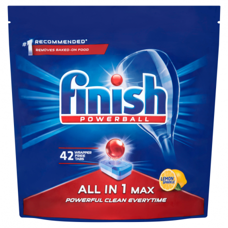 Finish All in 1 Max Lemon Tabletki do mycia naczyń w zmywarce 672 g (42 sztuki)
