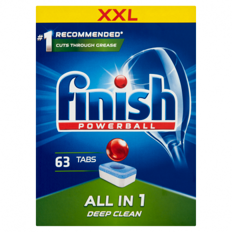 Finish All in 1 Tabletki do mycia naczyń w zmywarce 1008 g (63 sztuki)