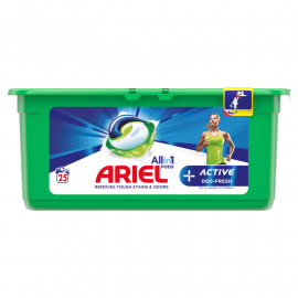 Ariel Allin1 +Active Odor Defense Kapsułki do prania, 25 prań
