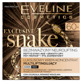 Eveline Cosmetics Exclusive Snake 60+ Luksusowy krem-koncentrat multiliftingujący 50 ml