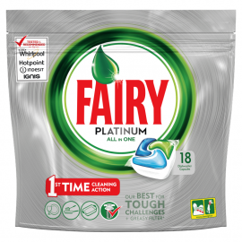 Fairy Platinum All In One Regular Kapsułki do zmywarki 18 sztuki