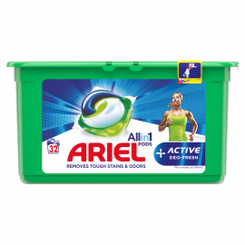 Ariel Allin1 +Active Odor Defense Kapsułki do prania, 32 prań
