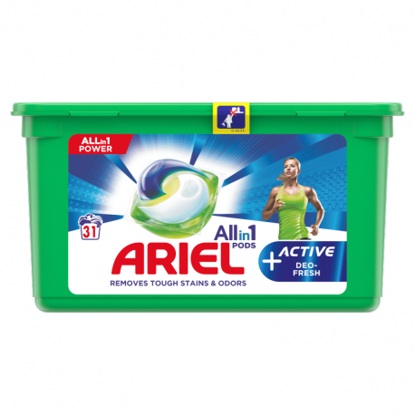 Ariel Allin1 Pods +Active Odor Defense Kapsułki do prania, 31 prań
