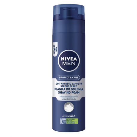 NIVEA MEN Protect & Care Pianka do golenia twardego zarostu 200 ml
