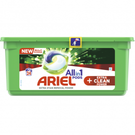 Ariel Allin1 Pods +EXTRA CLEAN Kapsułki do prania, 24 prań