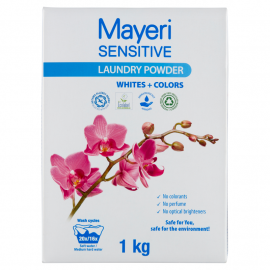 Mayeri Sensitive White+Colors Proszek do prania 1 kg