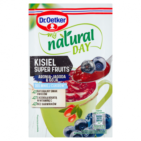 Dr. Oetker My Natural Day Kisiel Super Fruits aronia-jagoda & goja 28 g