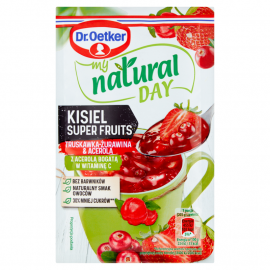 Dr. Oetker My Natural Day Kisiel Super Fruits truskawka-żurawina & acerola 28 g