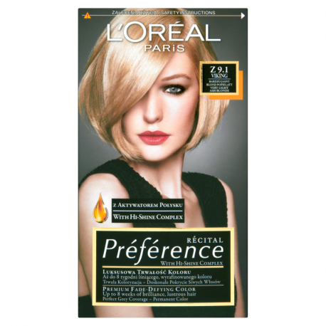 L'Oreal Paris Recital Preference Farba do włosów Z 9.1 Viking